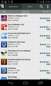 black apps android download