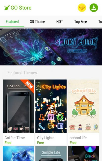 GO Launcher 3 20 (735) APK for Android - Download