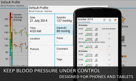 Blood Pressure Log - MyDiary screenshot 2